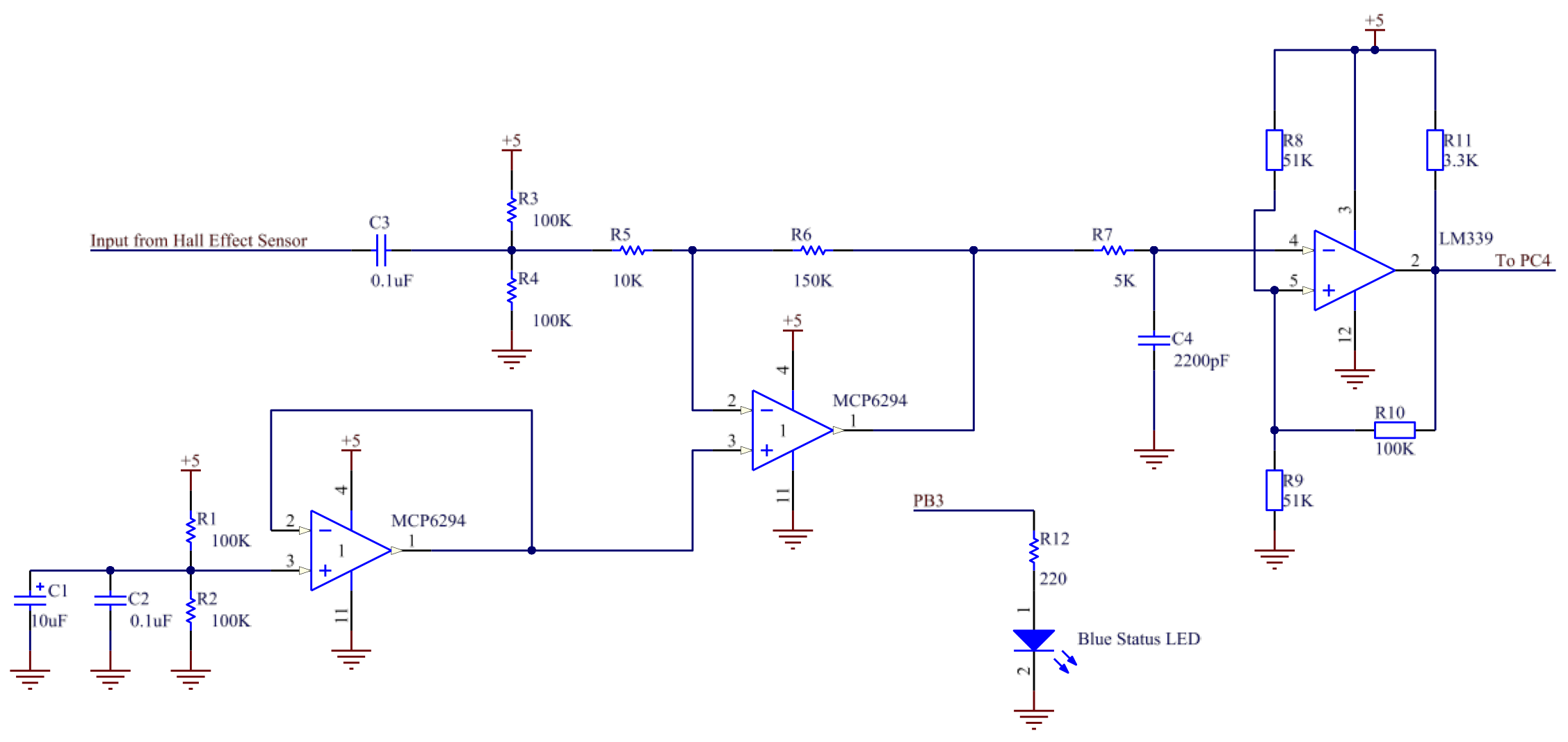 Me218b Project Lm339 This Circuit Is A Basic Two Contact Touch Switch Sensor Then The Comparator With Hysteresis Ignores Wave Ripples Due To Noise And Produces Stable Squared